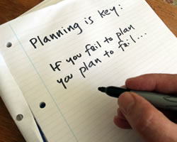 Planning is important when using novel writing software